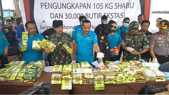 Pengungkapan Kasus 105 Kg Shabu Dan 30 Ribu butir ekstasi di Wilayah Sumatera Utara