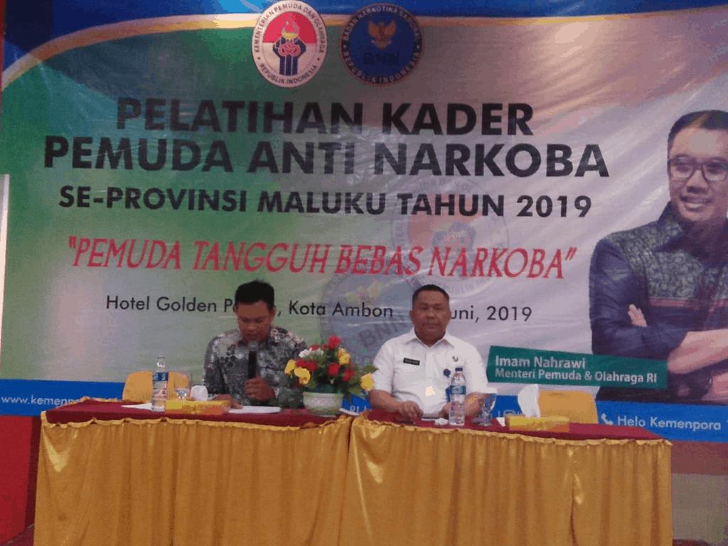 Ratusan Pemuda Mengikuti Giat Pembentukan Kader Anti Narkoba di Provinsi Maluku
