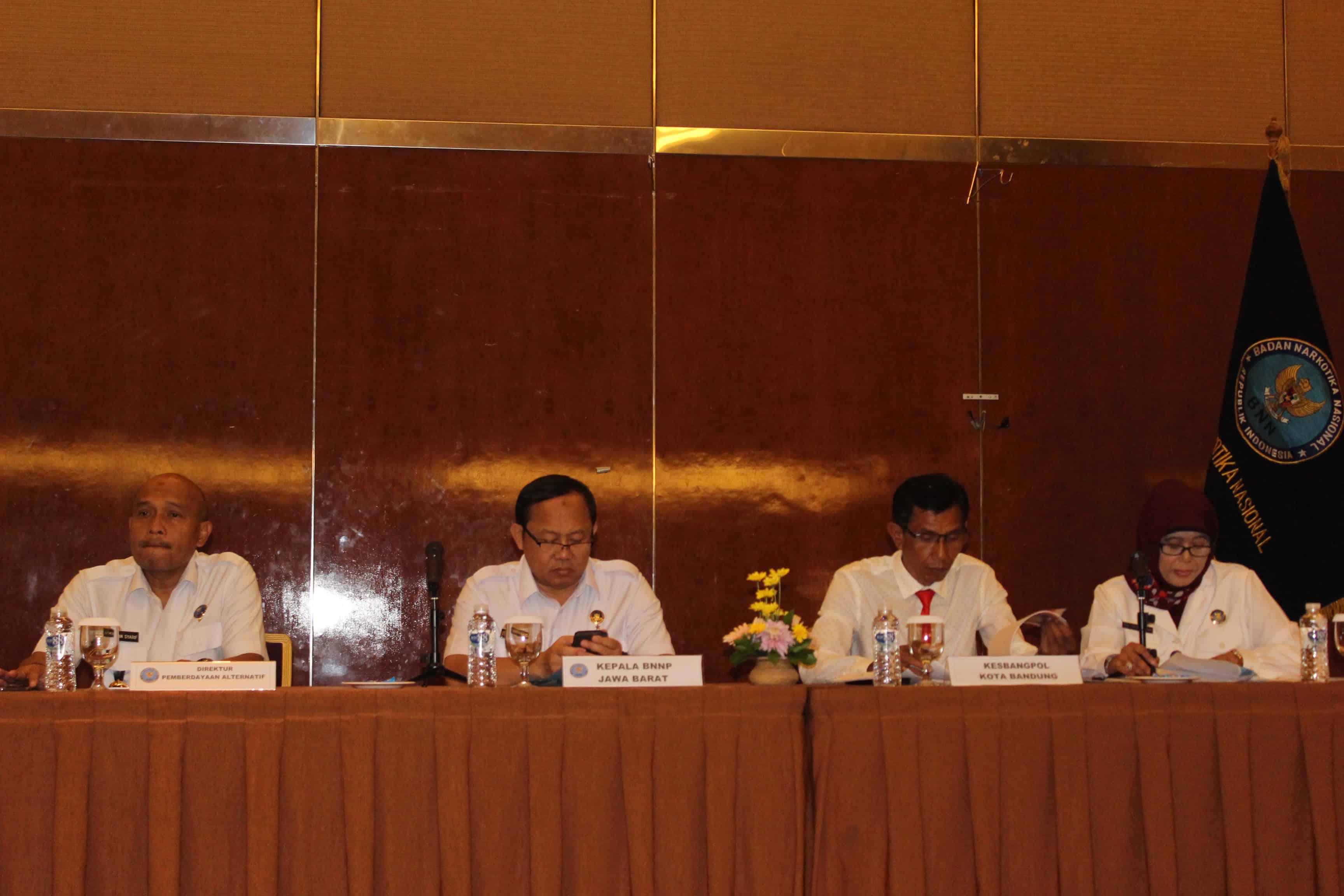 Direktorat Pemberdayaan Alternatif BNN Melaksanakan Kegiatan Raker di Provinsi Jawa Barat