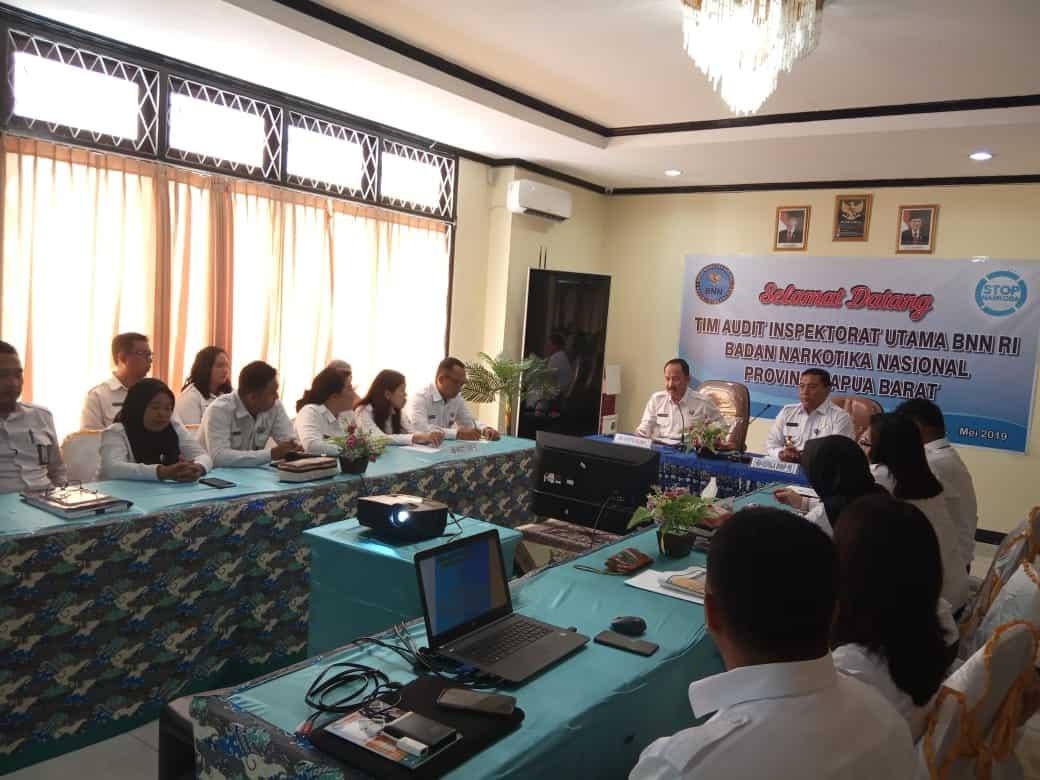 Audit TA. 2018 di BNNP Papua Barat