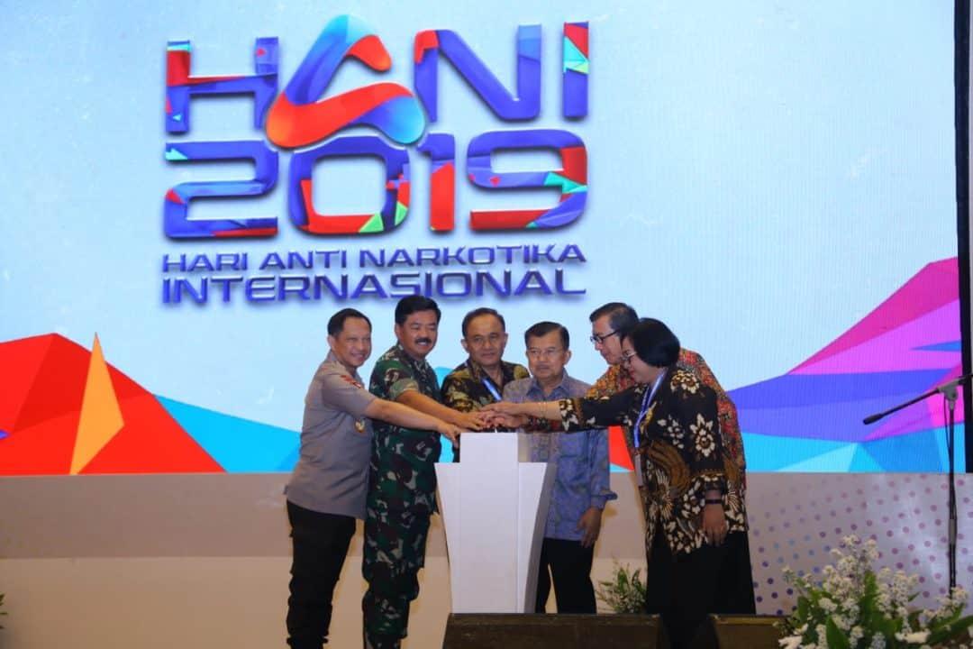 """HARI ANTI NARKOBA INTERNASIONAL (HANI) 2019  """"Milenial Sehat Tanpa Narkoba Menuju Indonesia Emas"""""""