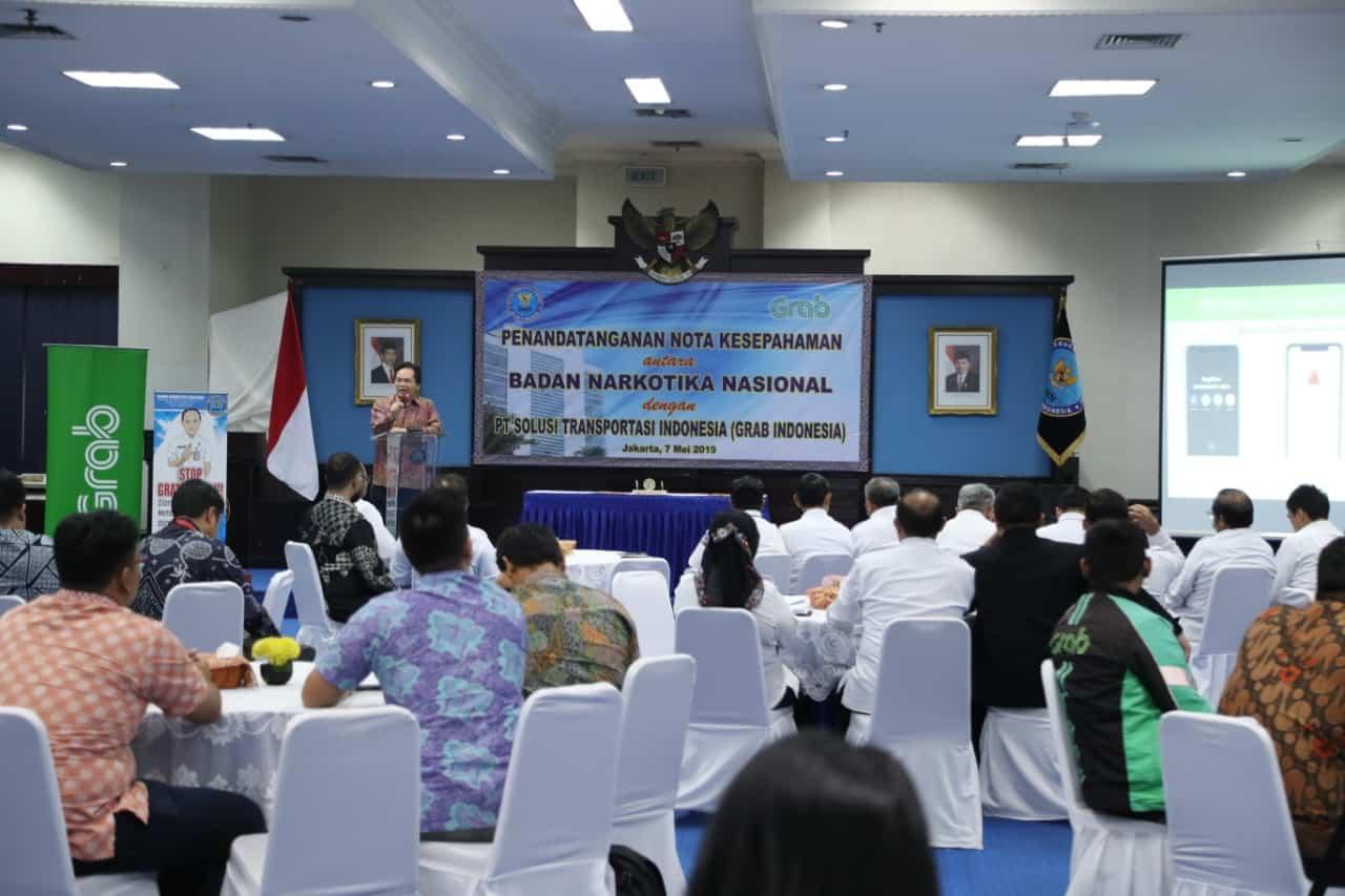 BNN LIBATKAN GRAB INDONESIA BERANTAS NARKOBA