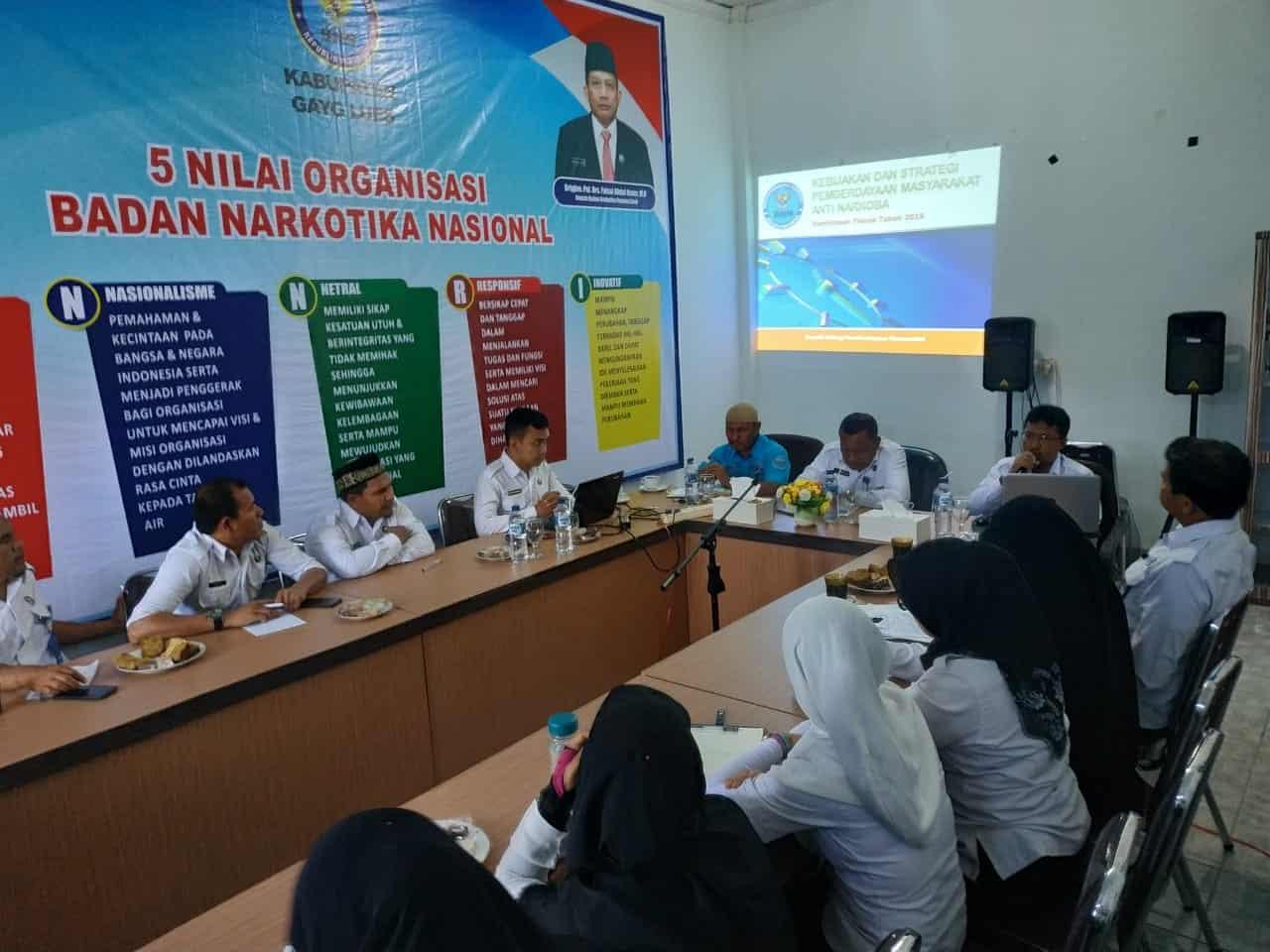 Direktorat Pemberdayaan Alternatif BNN Melakukan Bimbingan Teknis Ke BNNK Gayo Lues