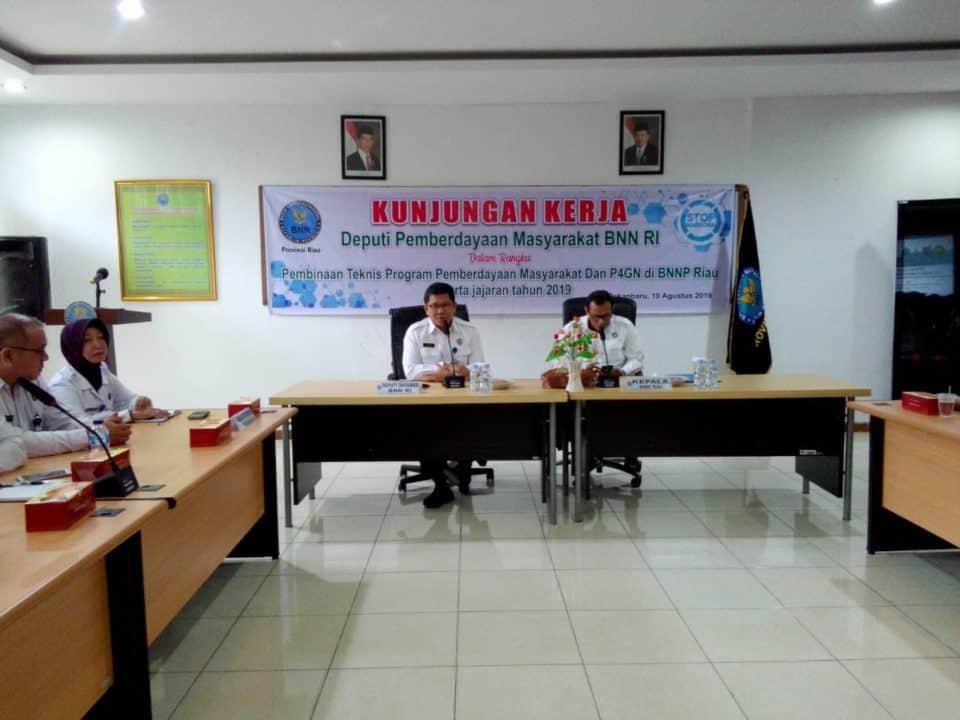 Pembinaan Teknis di Lingkungan BNNP Riau