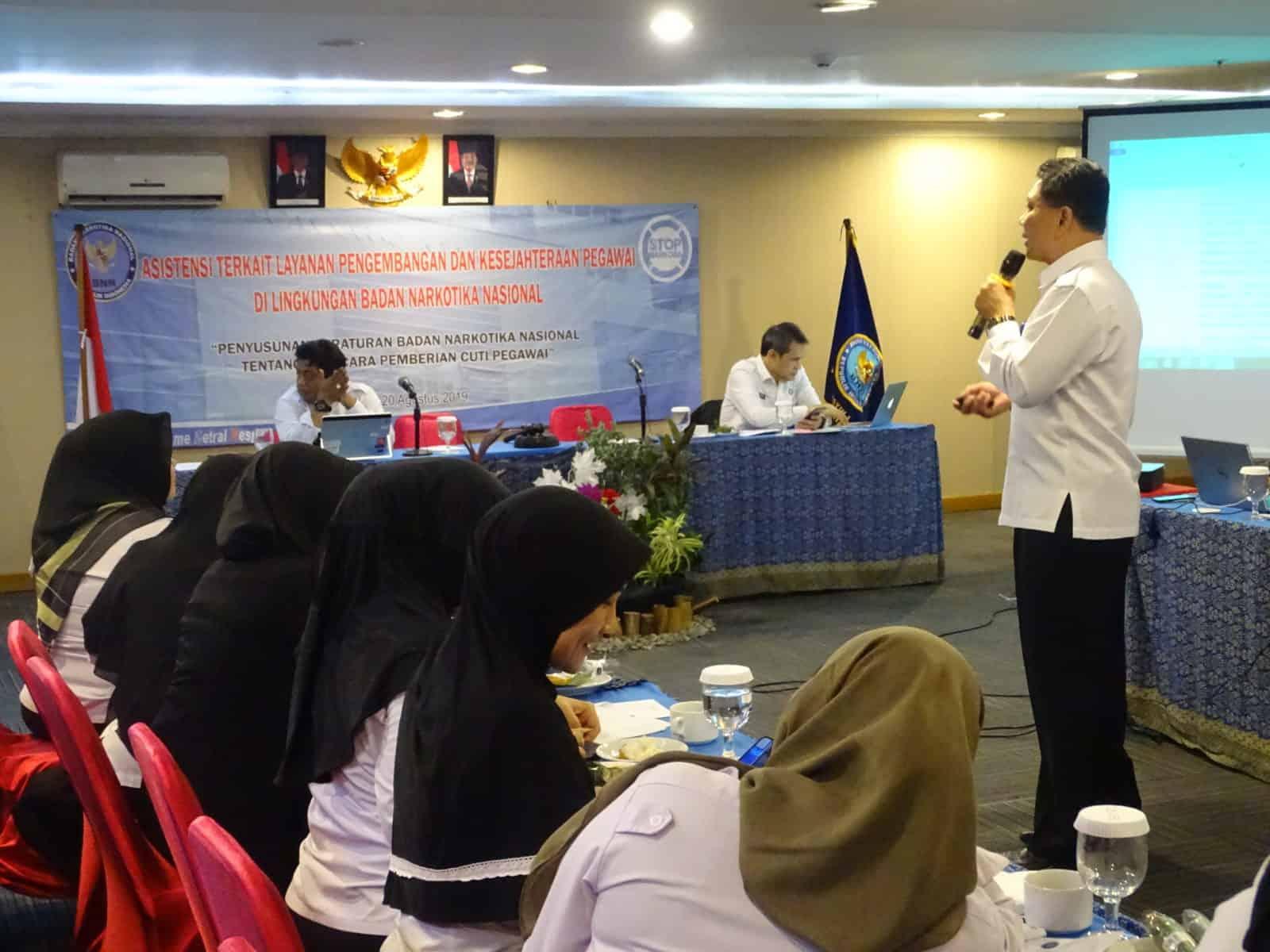 Biro Kepegawaian dan Organisasi Melaksanakan Kegiatan Penyusunan Peraturan Badan Narkotika Nasional Tentang Tata Cara Pemberian Cuti Pegawai