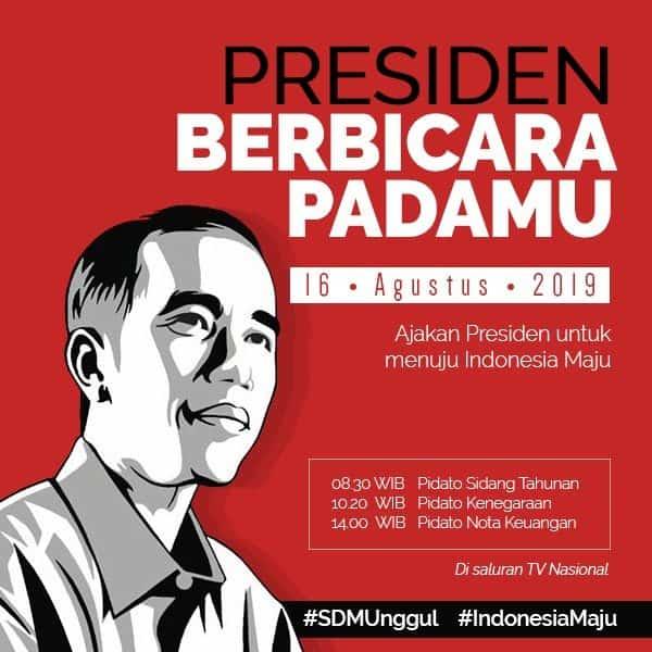 PIDATO PRESIDEN REPUBLIK INDONESIA DI DEPAN SIDANG TAHUNAN MAJELIS PERMUSYAWARATAN RAKYAT REPUBLIK INDONESIA TAHUN 2019