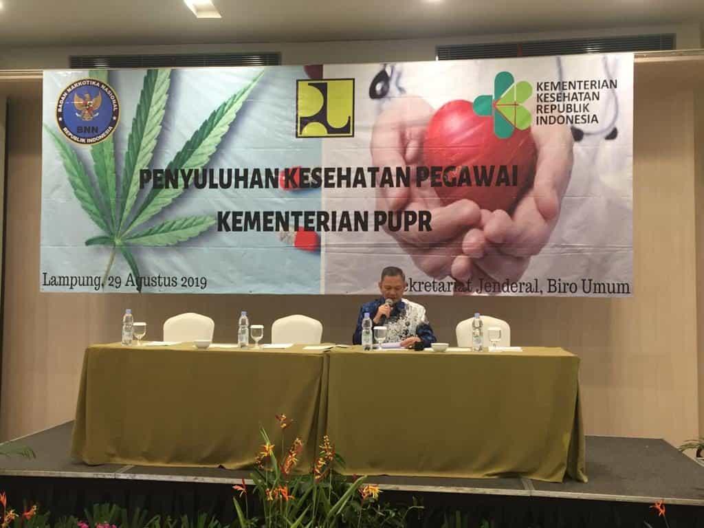 Kementerian Pekerjaan Umum dan Perumahan Rakyat Serta Kementerian Kesehatan Menggandeng BNN dalam Pencegahan Penyalahgunaan Narkoba dan Dilksanakannya Kesehatan Jantung di Bandar Lampung