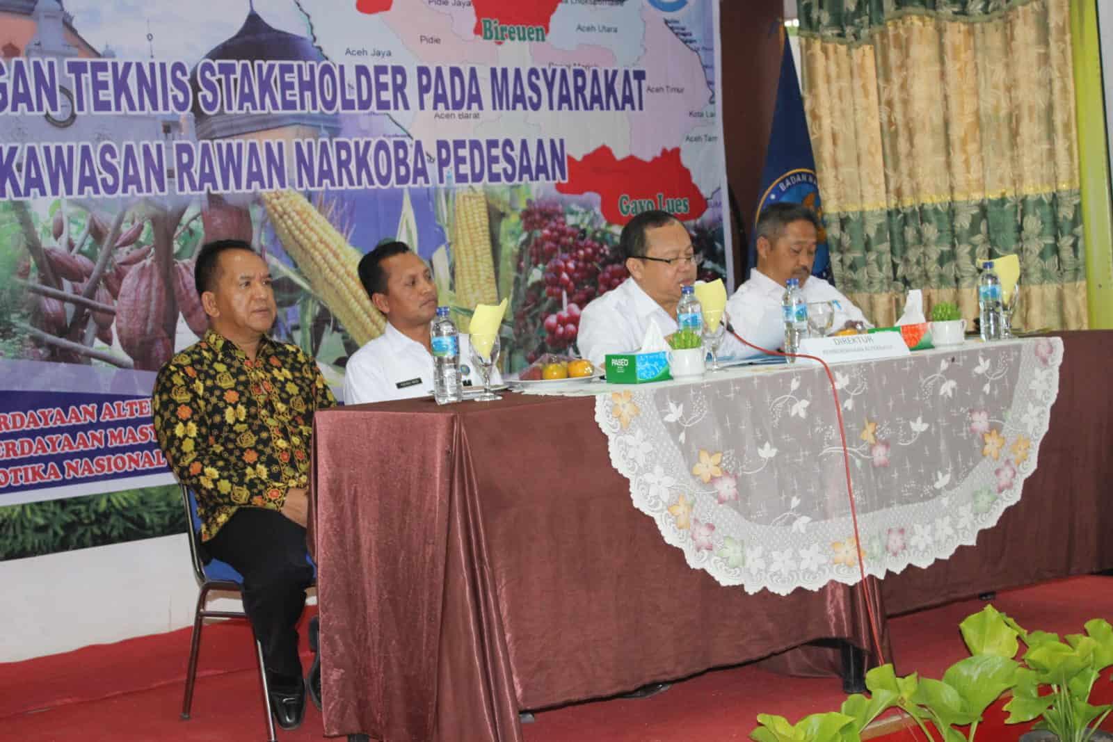 Bimtek stakeholder pada masyarakat kawasan rawan narkoba