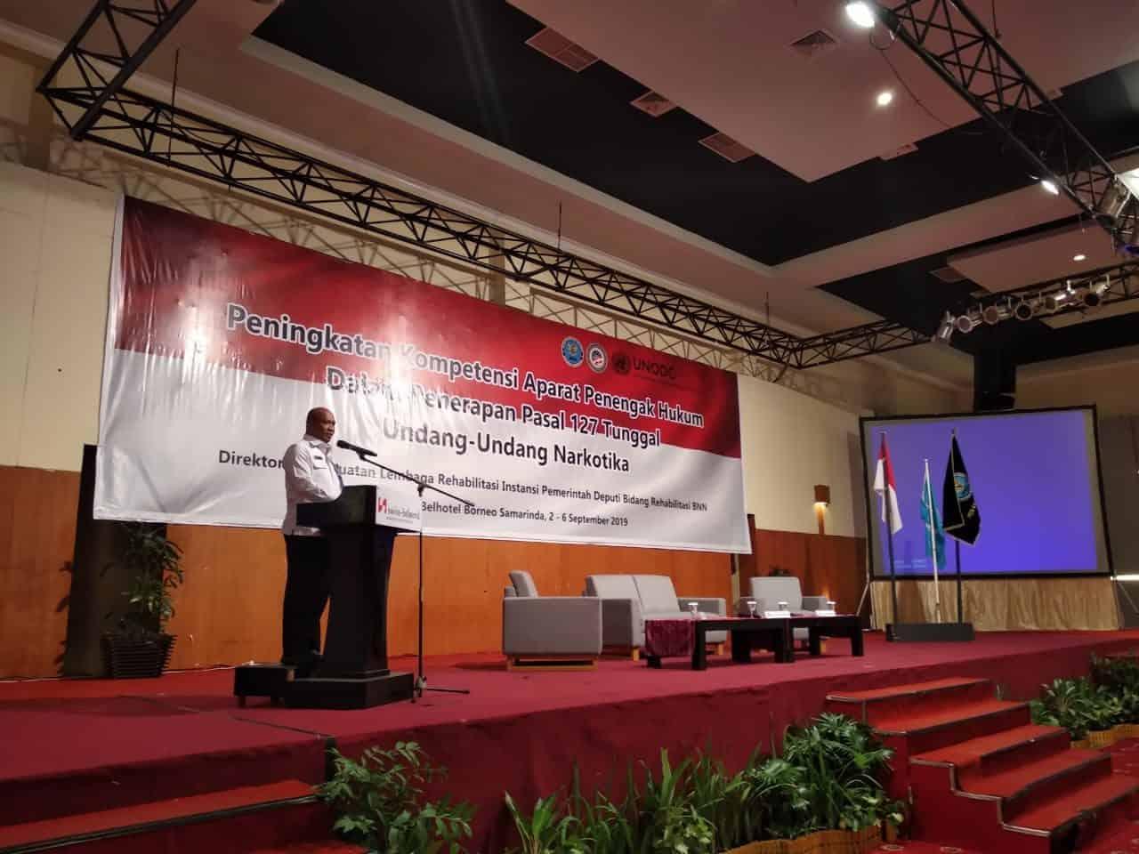 Arahan Irtama BNN dalam kegaitan Peningkatan Kompetensi Aparat Penegak Hukum