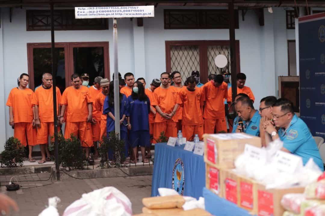 Gelar Pemusnahan Kedelapan BNN Bakar 77 Kg Sabu dan 631 Kg Ganja