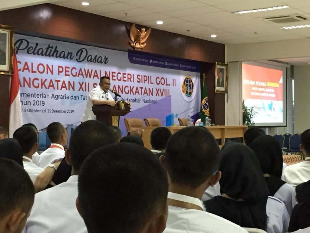 Kementerian Agraria dan Tata Ruang/BPN Sosialisasikan P4GN Bagi CPNS