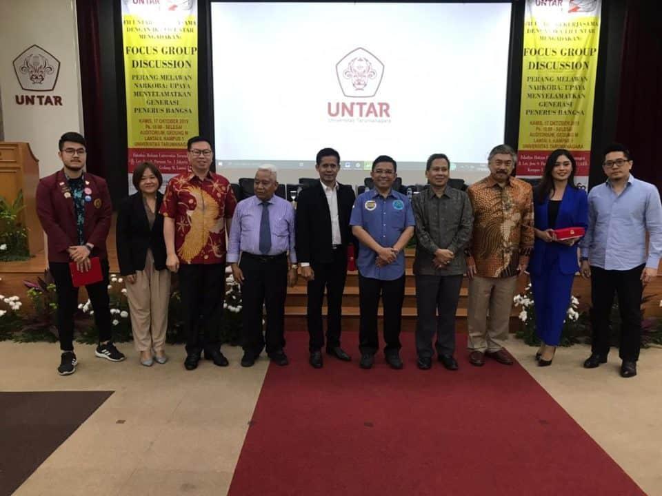 Alumni FH Untar Gelar FGD dengan Menghadirkan Deputi Pencegahan