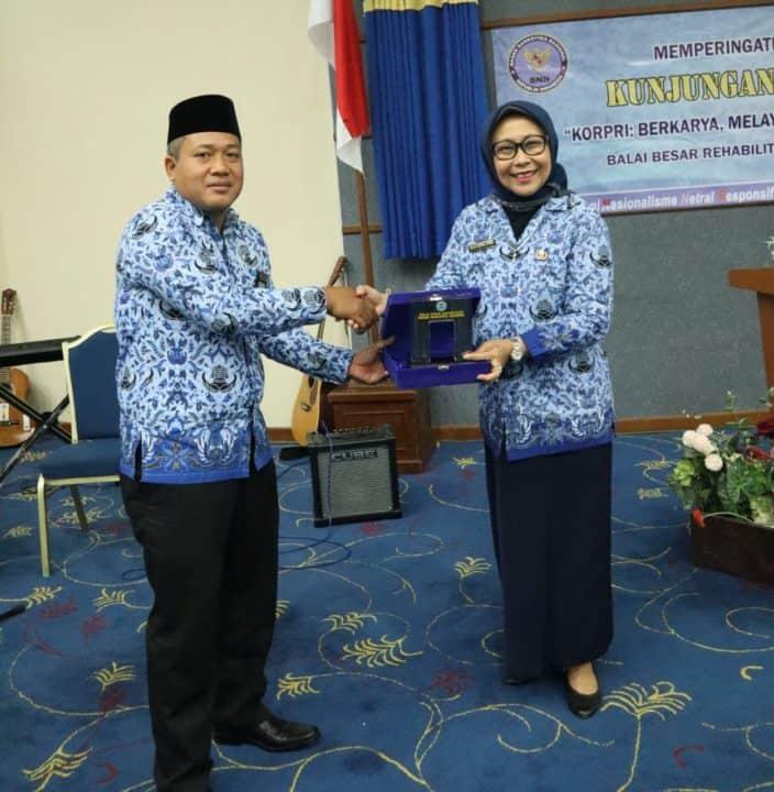 HUT KORPRI ke-48, Dewan Pengurus Korpri Nasional (DPKN) Sambangi Balai Besar Rehabilitasi BNN Lido