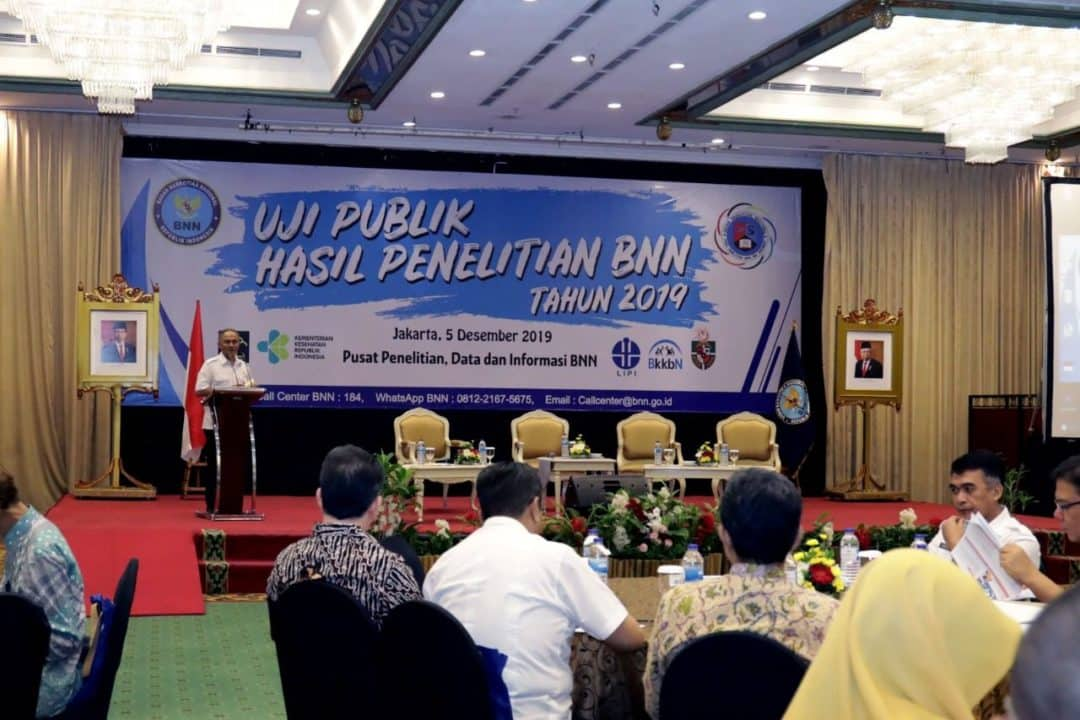 Kepala BNN Buka Acara Uji Publik Penelitian P4GN Tahun 2019