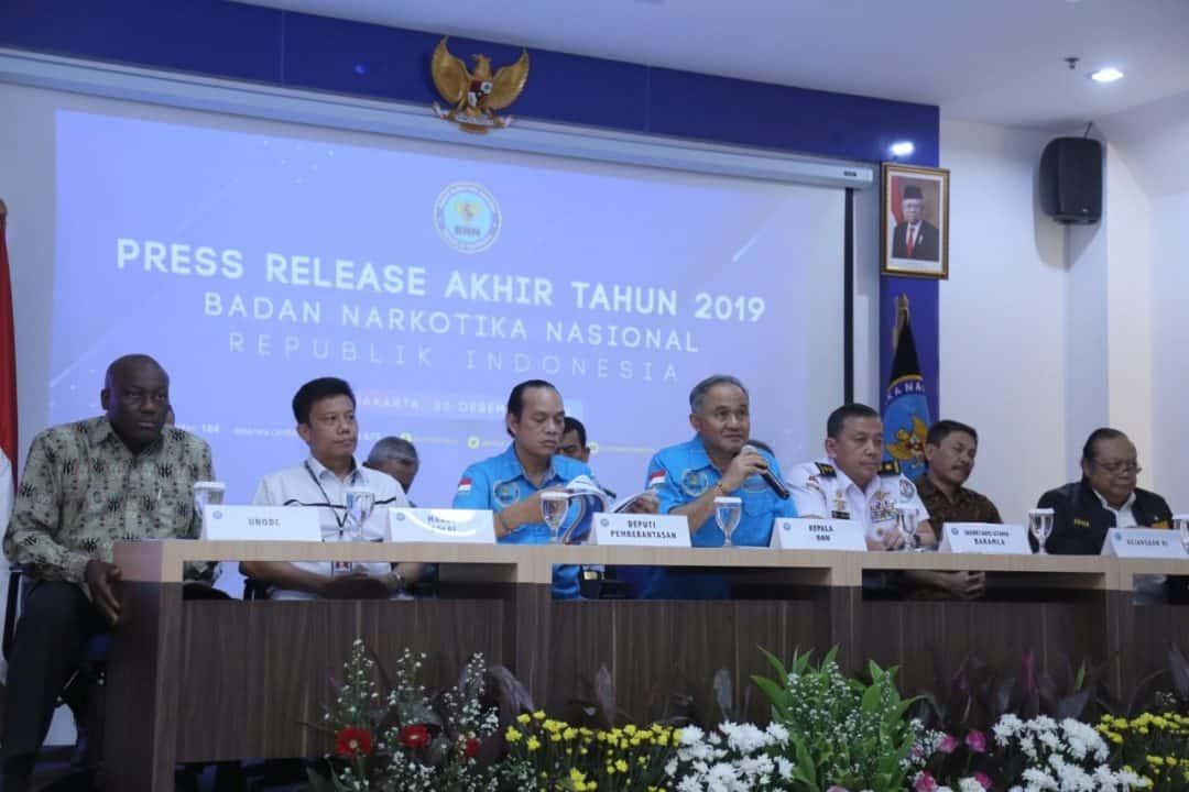 "Press Release Akhir Tahun, KEPALA BNN : ""JADIKAN NARKOBA MUSUH KITA BERSAMA !"""