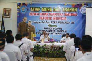 Kepala BNN RI Harapkan Jajaran BNNP Jambi Komitmen Dan Inovatif Dalam Upaya P4GN.