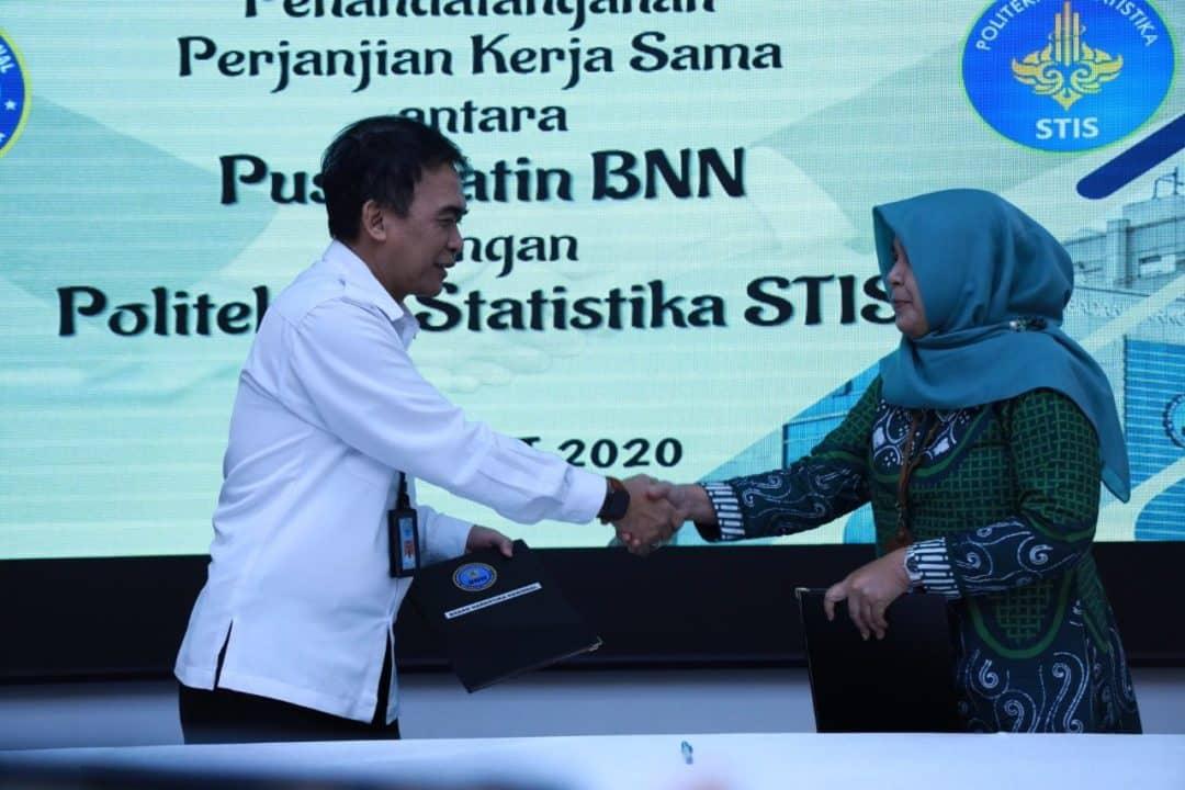 Puslitdatin BNN dan Politeknik Statistika STIS Sepakati Kerja Sama Lakukan Penelitian Indeks P4GN