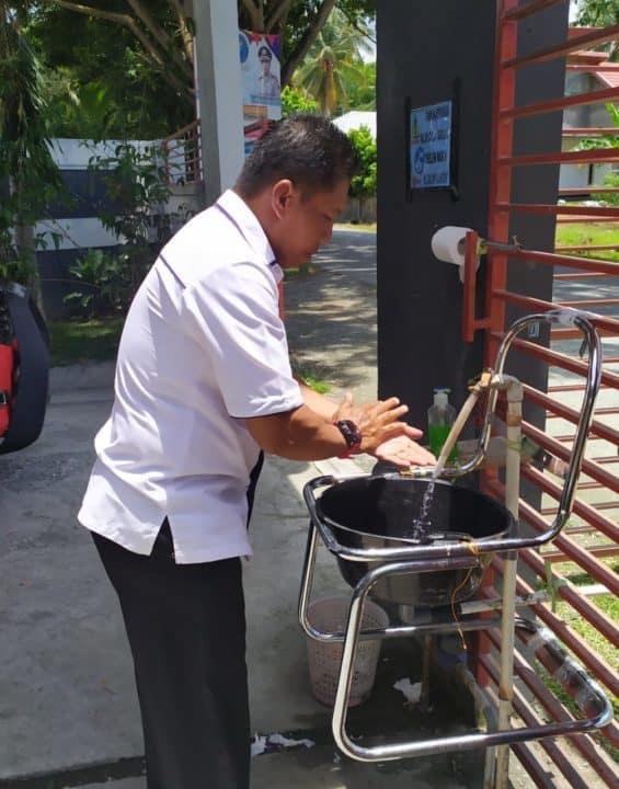 Manfaatkan Barang Bekas, BNNK Touna Jadikan Kursi Bekas Sebagai Tempat Cuci Tangan