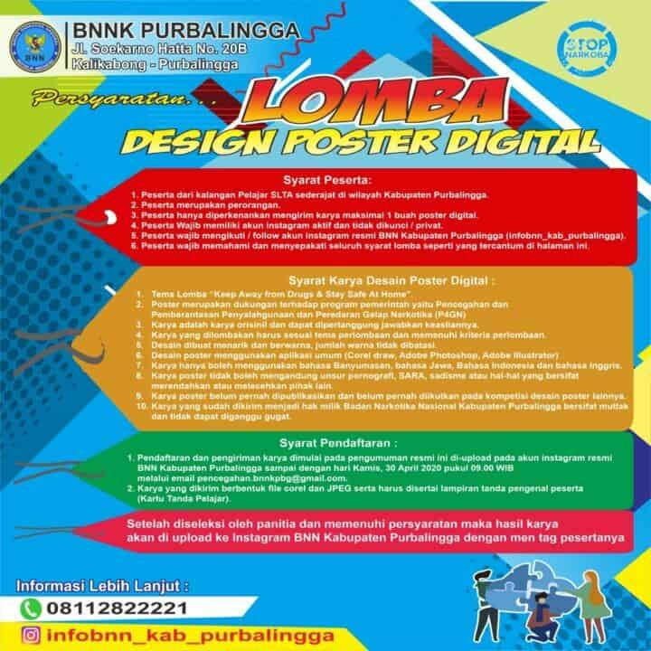 Pacu Kreativitas Lewat Lomba Design Poster Digital Anti Narkoba