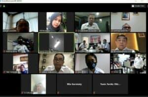 Zoom Meeting mengenai Pembinaan pada Kawasan Rawan Narkoba di Kampung Ambon