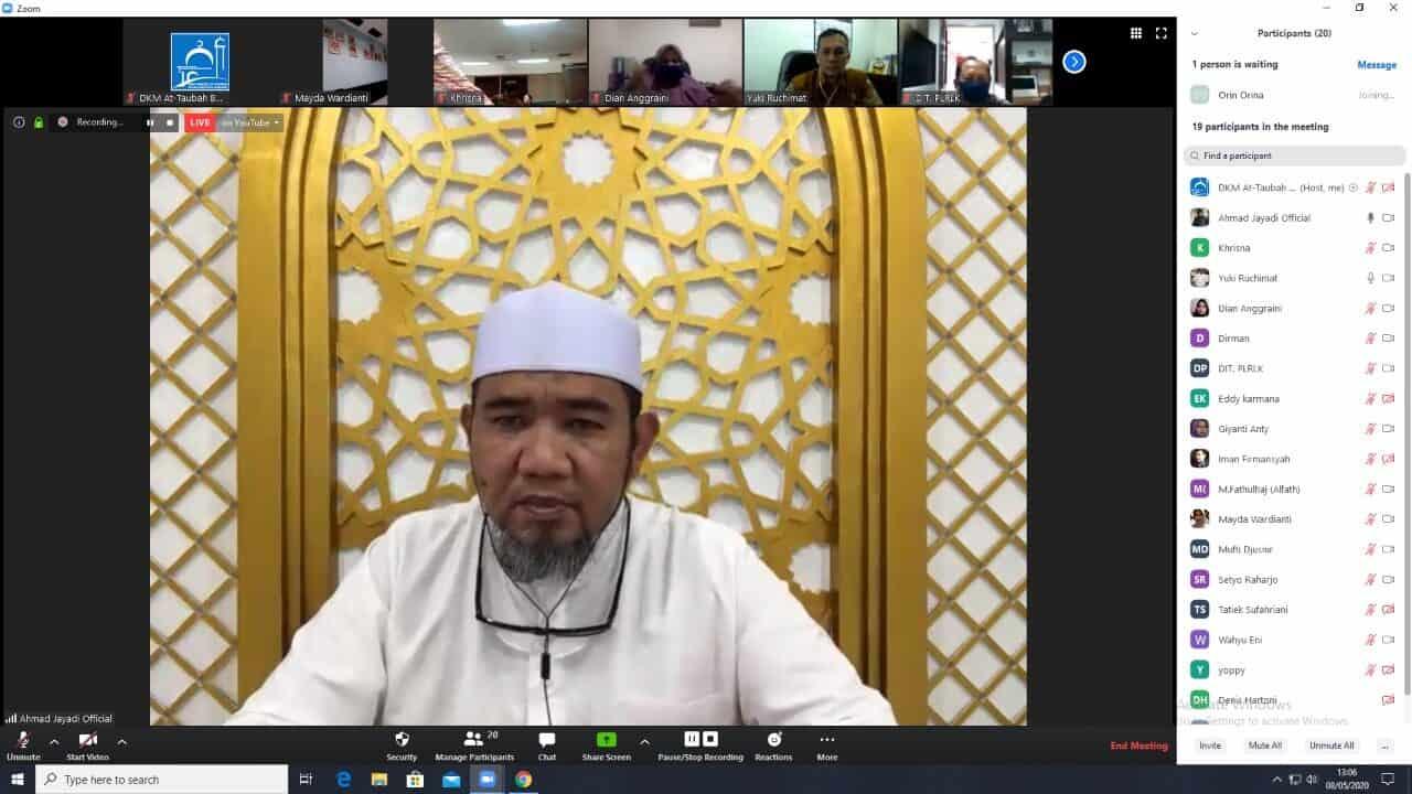 Apresiasi Untuk Masjid At Taubah BNN RI Yang Rutin Lakukan Syiar Dakwah Via Media Daring