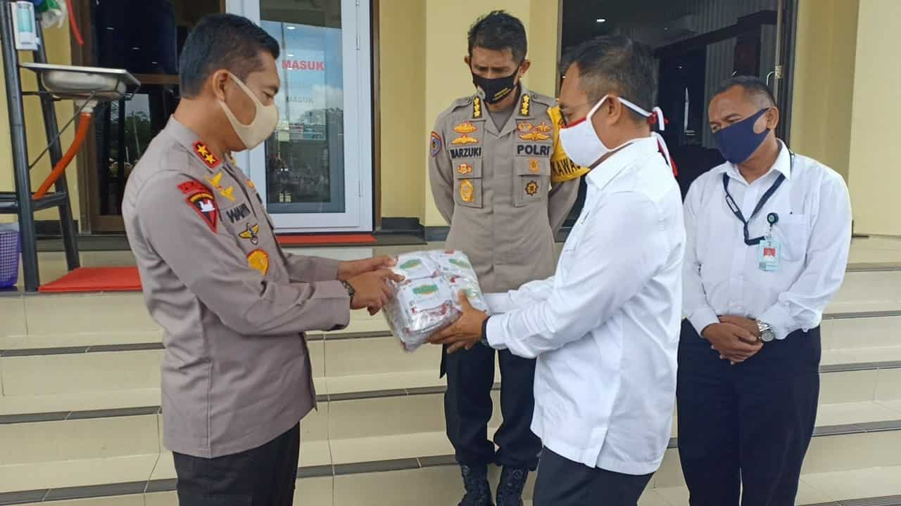 BNNP Aceh Serahkan 30.000 Masker Gratis ke Polda Aceh