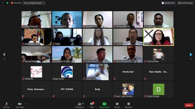 Rapat virtual tentang penguatan GDAD di Aceh dan Implementasi rencana Aksi inpres no 2/2020 dengan Kementerian Komunikasi & Informasi (Kominfo)
