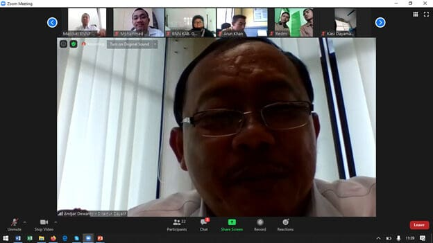 Pelaksanaan Virtual Meeting tentang Pelatihan Dana Alokasi Khusus, oleh Bappenas,