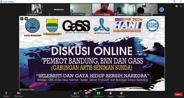 Kolaborasi BNN, Pemkot Bandung dan GASS Tolak Narkoba