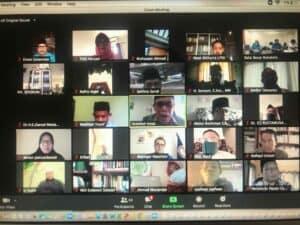 Peserta seminar online dari GANAS ANNAR MUI