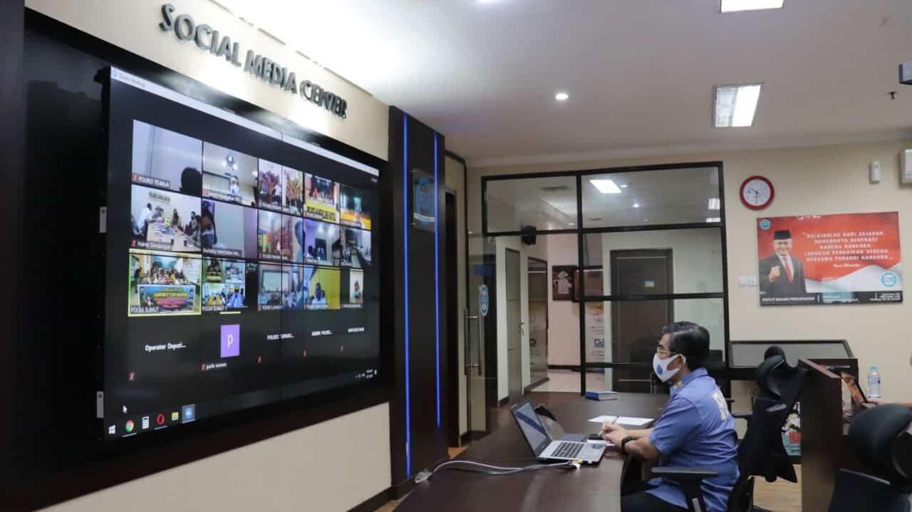 """Deputi Pencegahan BNN Webinar dengan Kapolda Sumut membahas """"Waspada Narkoba di tengah Covid 19""""."""