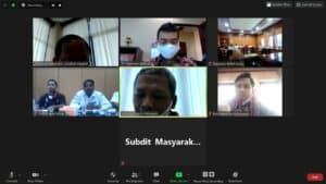Kegiatan Harmonisasi Program GDAD Bersama Stakeholder di Kabupaten Aceh Besar melalui Teleconference
