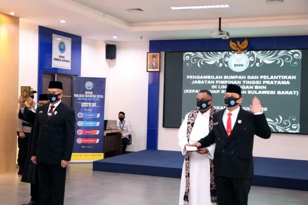 Kepala BNN RI Lantik Kepala BNNP Riau dan BNNP Sulawesi Barat