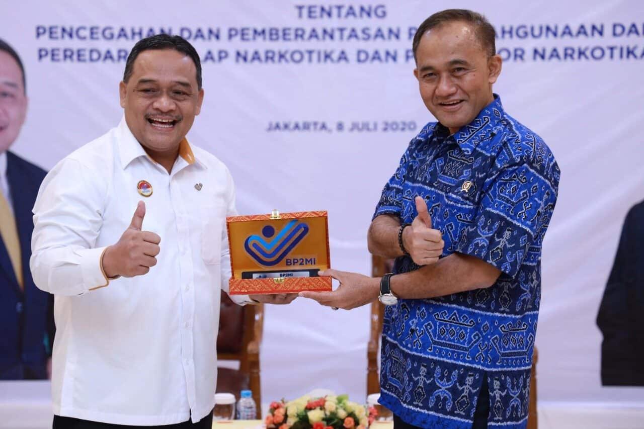 BNN RI dan BP2MI Tandatangani MoU tentang Upaya P4GN dan Perlindungan Terhadap Pekerja Migran Indonesia