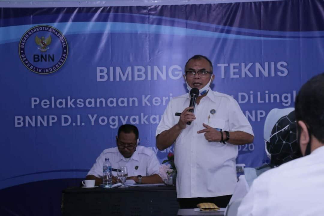 BNN Gelar Bimtek Tentang Pelaksanaan Kerja Sama di Lingkungan BNNP DIY dan Jateng
