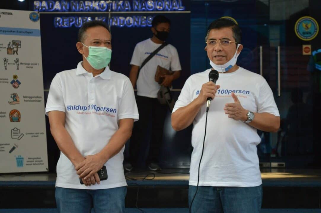 "Mobile Campaign ""Hidup 100 Persen"" BNN dengan Komunitas Blank Blend Thonk"