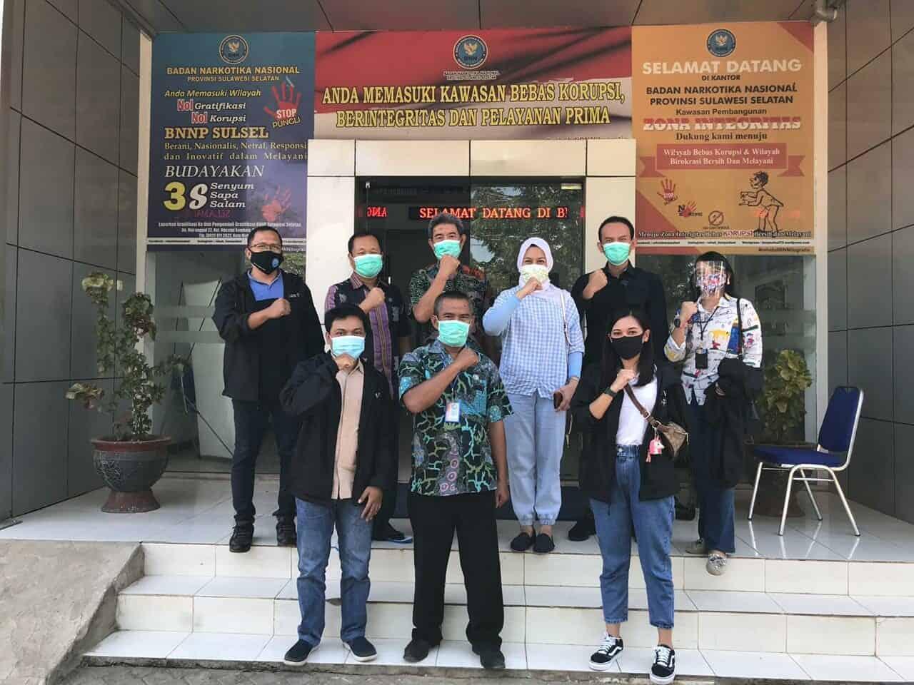 Rangkaian Kegiatan Bimbingan Teknis bagi Pendamping Kunjungan ke BNNP Sulawesi Selatan