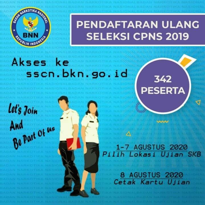 Pendaftaran Ulang Seleksi CPNS BNN RI 2019.