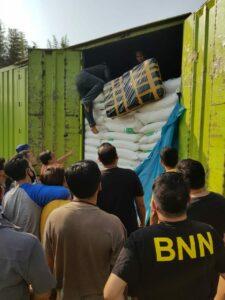 Tim Gabungan BNNP Banten dan Polda Banten Amankan 150 Kg Ganja Asal Aceh