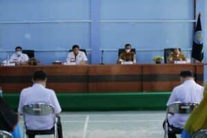 Sambutan Kepala BNNP Kalsel sekaligus membuka kegiatan wirausaha