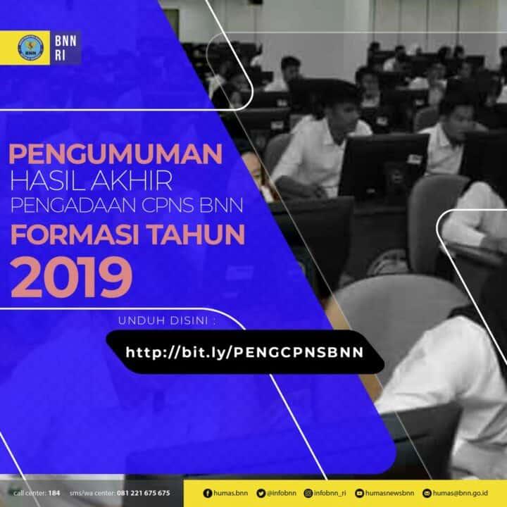Pengumuman Hasil Akhir Pengadaan CPNS Formasi Tahun 2019