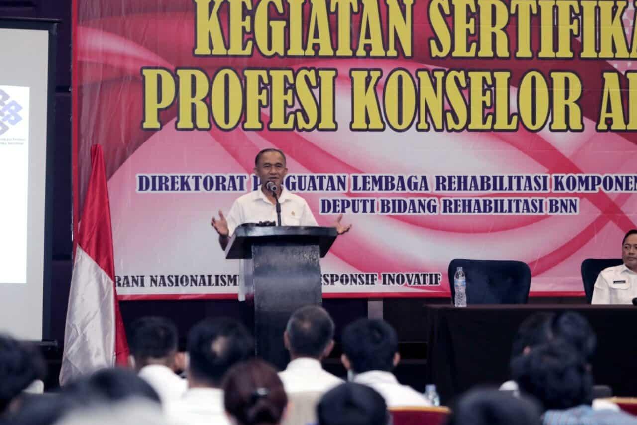 Direktorat PLRKM Lakukan Uji Kompetensi Sertifikasi Bagi Profesi Konselor Adiksi