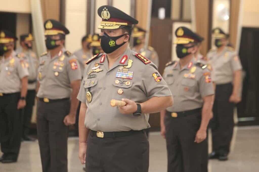 KAPOLRI Terima Laporan Korps Rapor Kenaikan Pangkat Kepala BNN RI Komjen Pol Dr. Drs. Petrus R. Golose, M.M