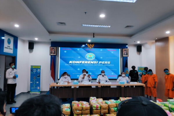 Press Release Sindikat Narkoba Internasional di Sumatera Selatan dan Aceh