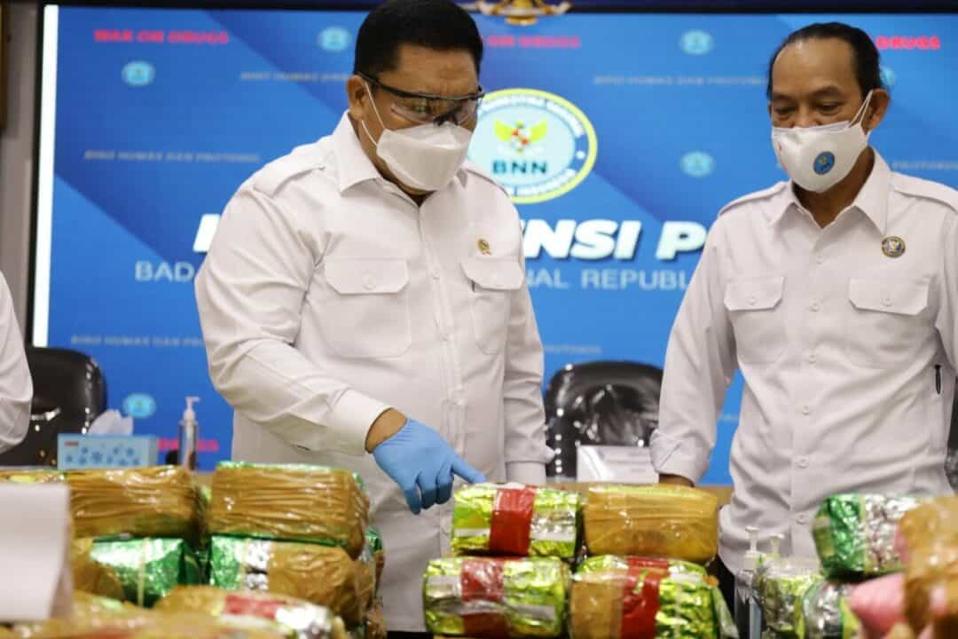 BNN Ungkap Sindikat Narkoba Internasional di Sumsel dan Aceh