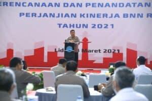 Rapat Koordinasi Perencanaan Dan Penandatanganan Perjanjian Kinerja BNN RI Tahun 2021