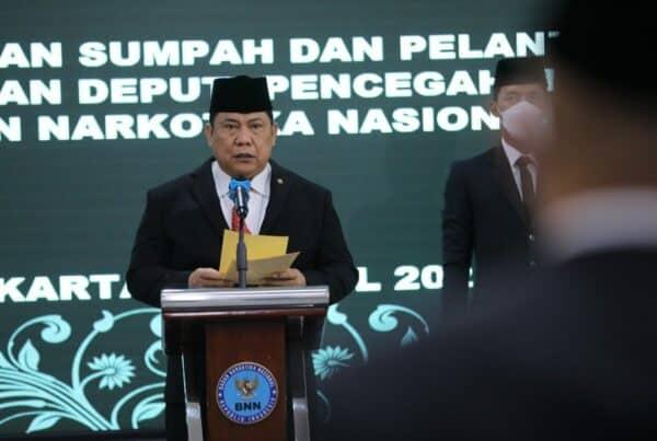 Kepala BNN RI Lantik Kepala BNNP Jabar Menjadi Deputi Pencegahan BNN RI