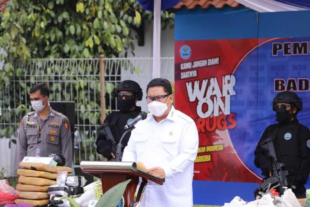 BNN Lakukan Pemusnahan Barang Bukti Yang Ke 4 Dari 15 Kasus Narkotika