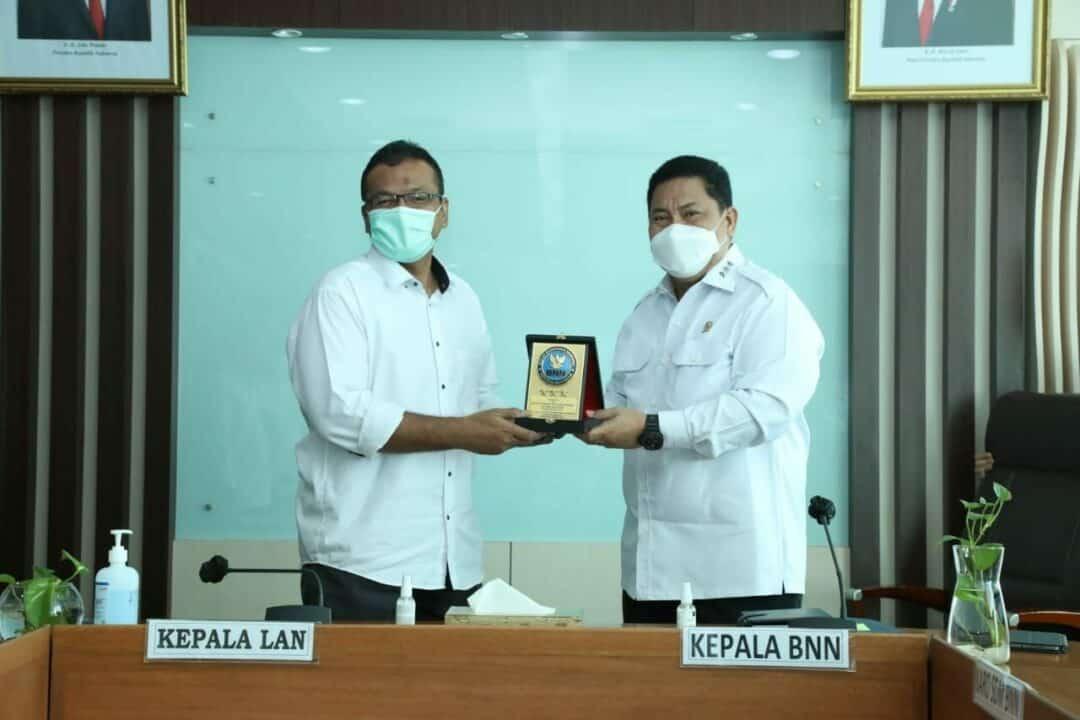 """BNN RI dan LAN Jalin Kerjasama Penggunaan Aplikasi """"SIPKA"""" dan PKN II Angkatan 1"""