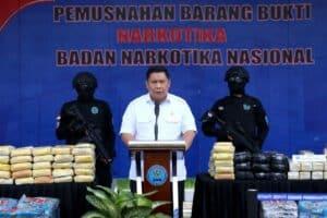 Buktikan Komitmen, BNN Musnahkan Lebih Dari Setengah Ton Barang Bukti Narkotika